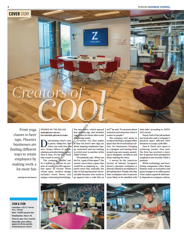 First Page of Phoenix Business Journal Article