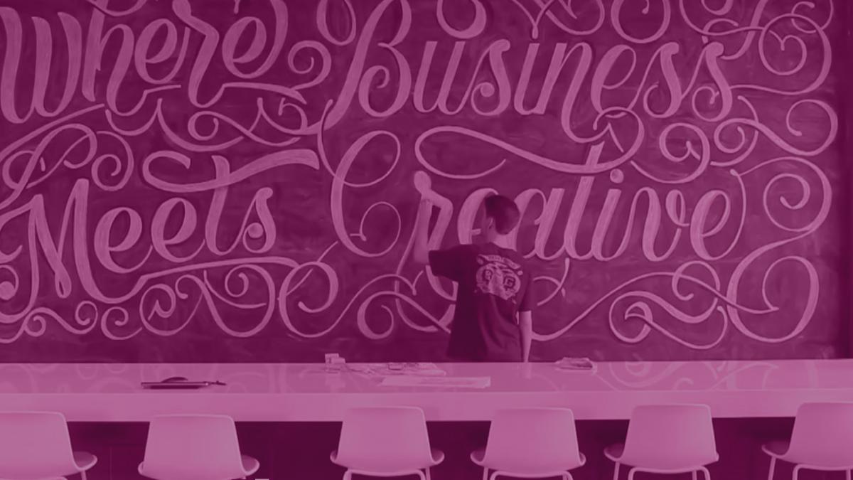 Creative, Meet Business: A Zion & Zion Hand Lettering Chalkboard Art Time-lapse