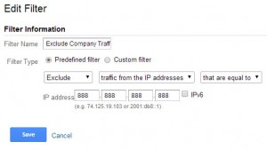 Exclude IP Address Filter