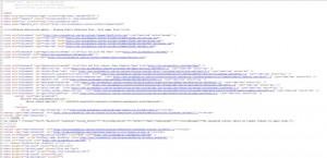 Code of a Website
