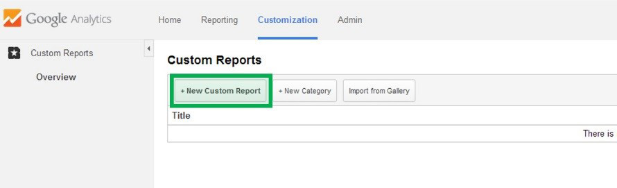 Click New Custom Report