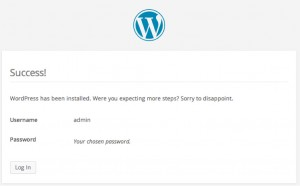 Installing WordPress Step 2