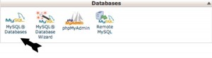 Setting Up Database Step 1