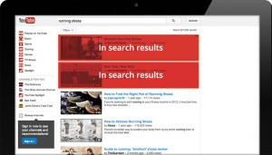 YouTube TrueView In-Display Search Advertisement