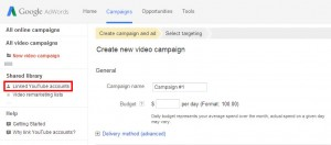 YouTube Advertising Setup Step 2