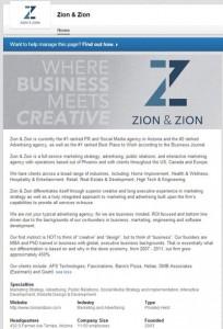 Zion & Zion LinkedIn Page