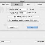 MAMP Port Settings