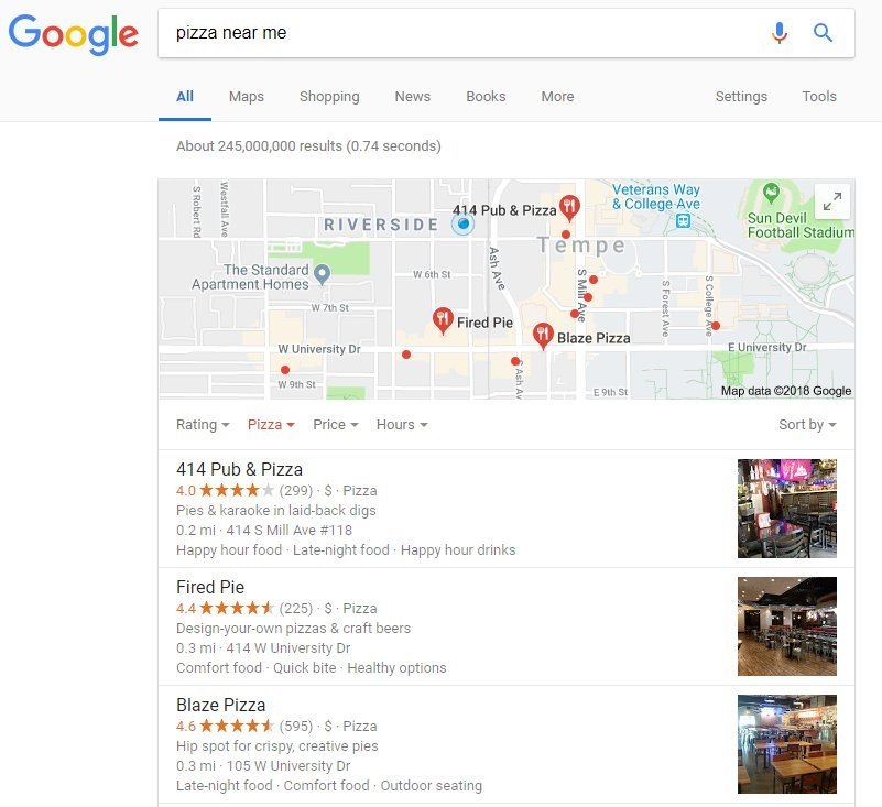 google local algorithm update