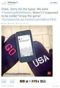 JCPenney Tweeting with Mittens