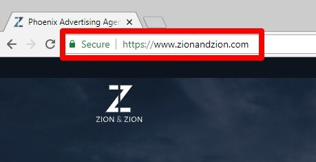 URL of a website