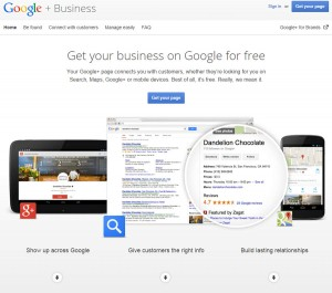 Google Plus For Business Sign Up Page