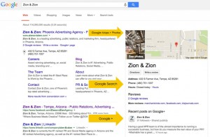 Google's Use of Business Pages Info