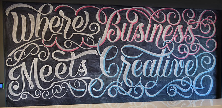 Where Business Meets Creative Chalkboard Art