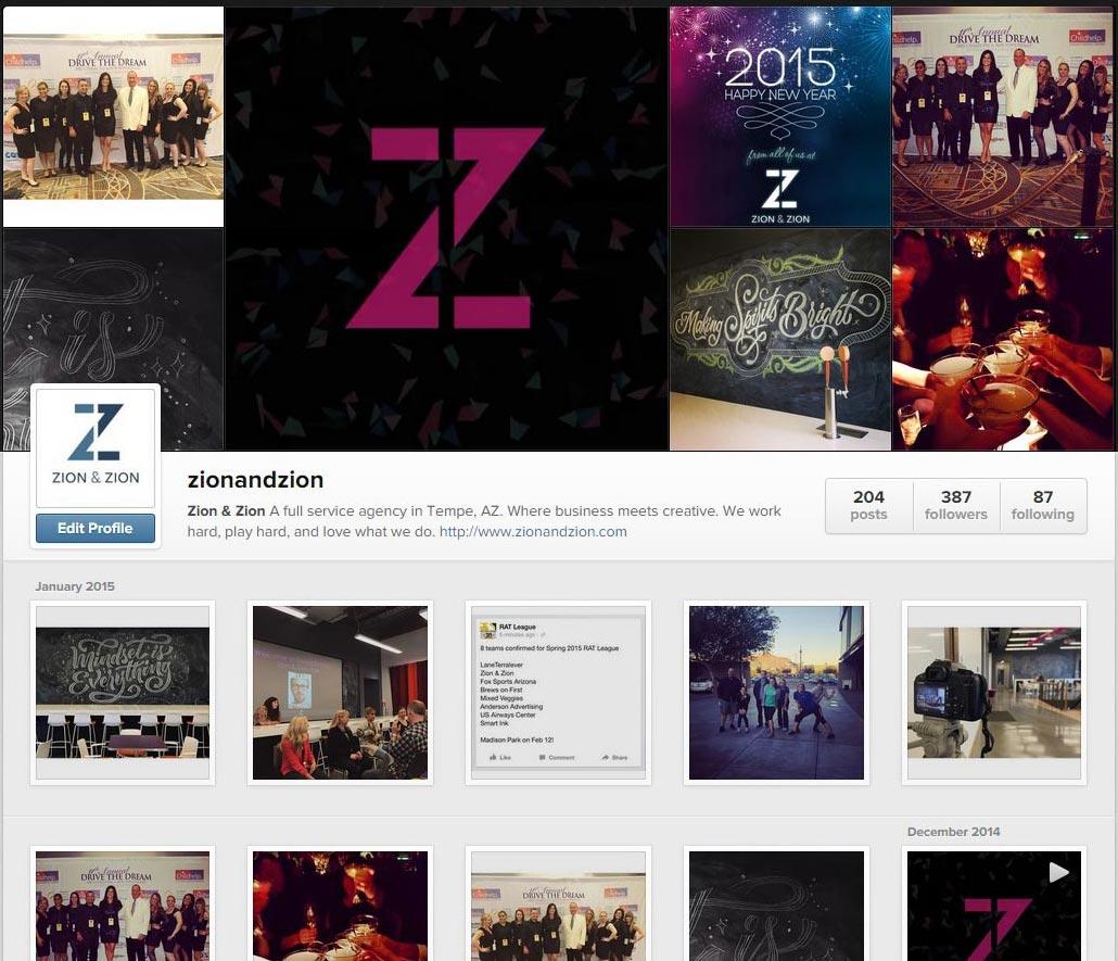 Instagram Desktop View