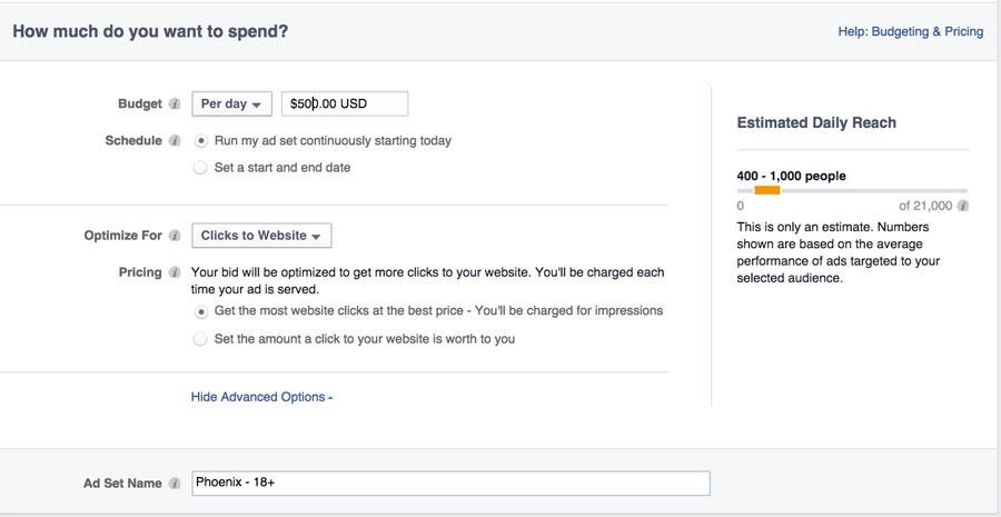Choosing Ad Spend