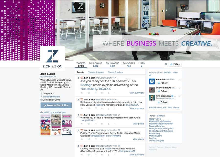"Zion & Zion Twitter Profile"""