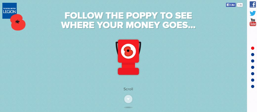 Poppy Spend British Legion Website