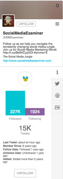 SocialBro Individual Twitter Account Analytics