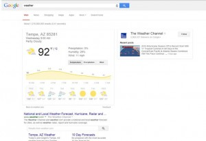 Google Weather For Tempe