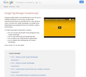 Google Tag Manager Analytics Academy Courses