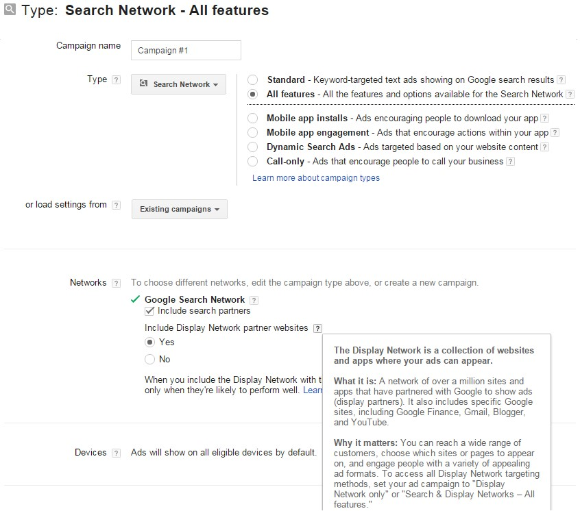 all features search network