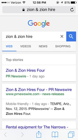 zion and zion press release