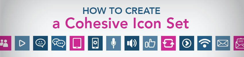 how to create cohesive icon sets