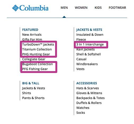 columbia example