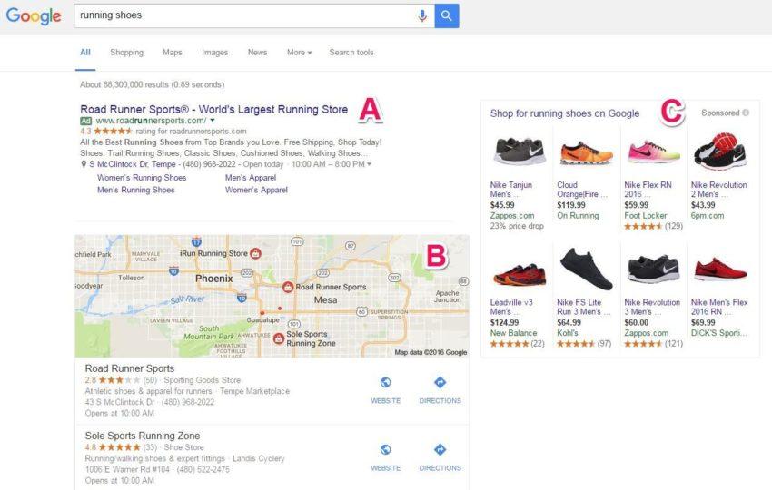 modern google serp