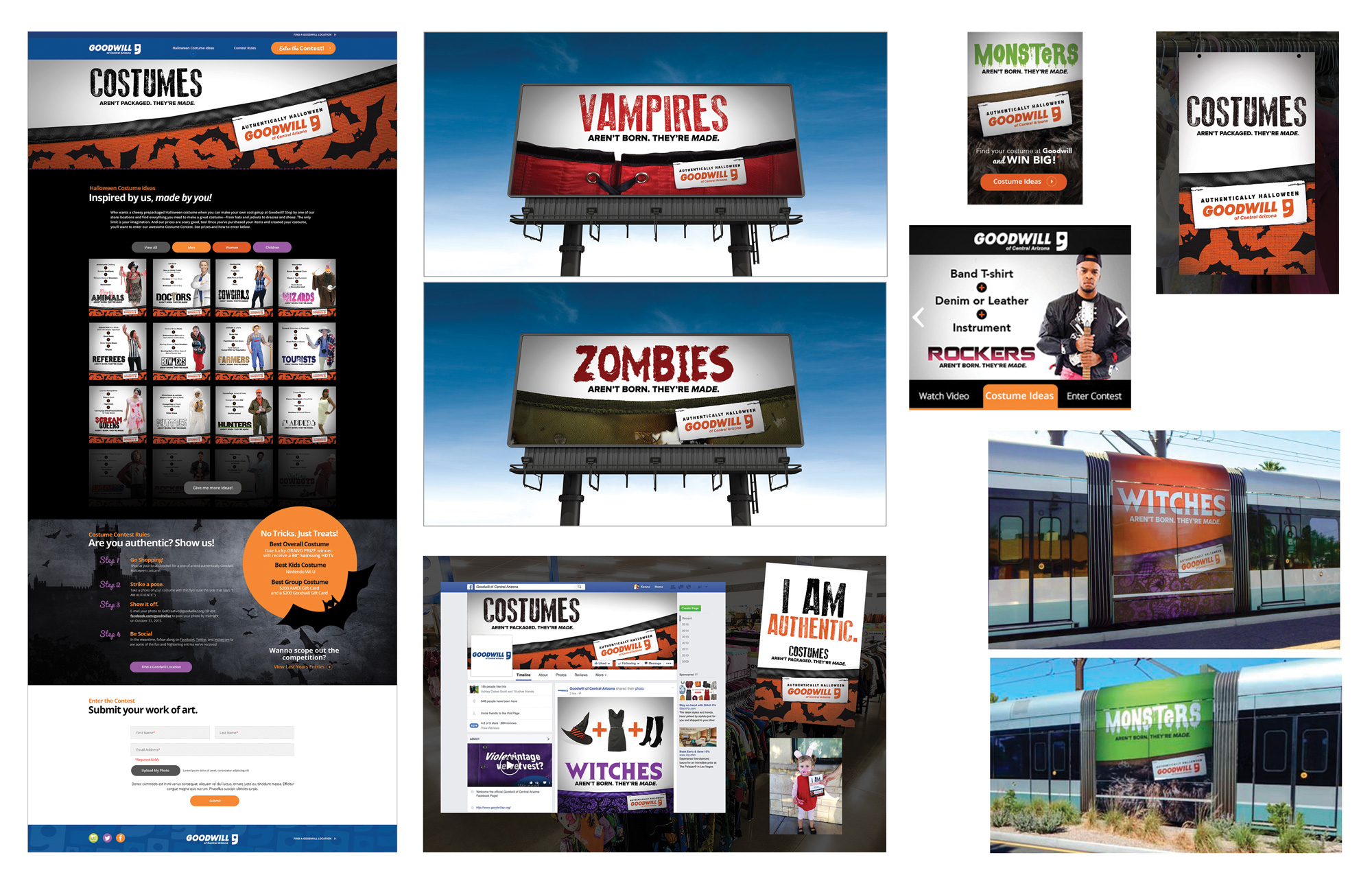 Goodwill Halloween Campaign Layout