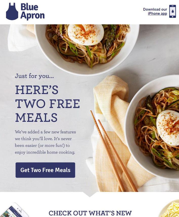 blue apron meal offer