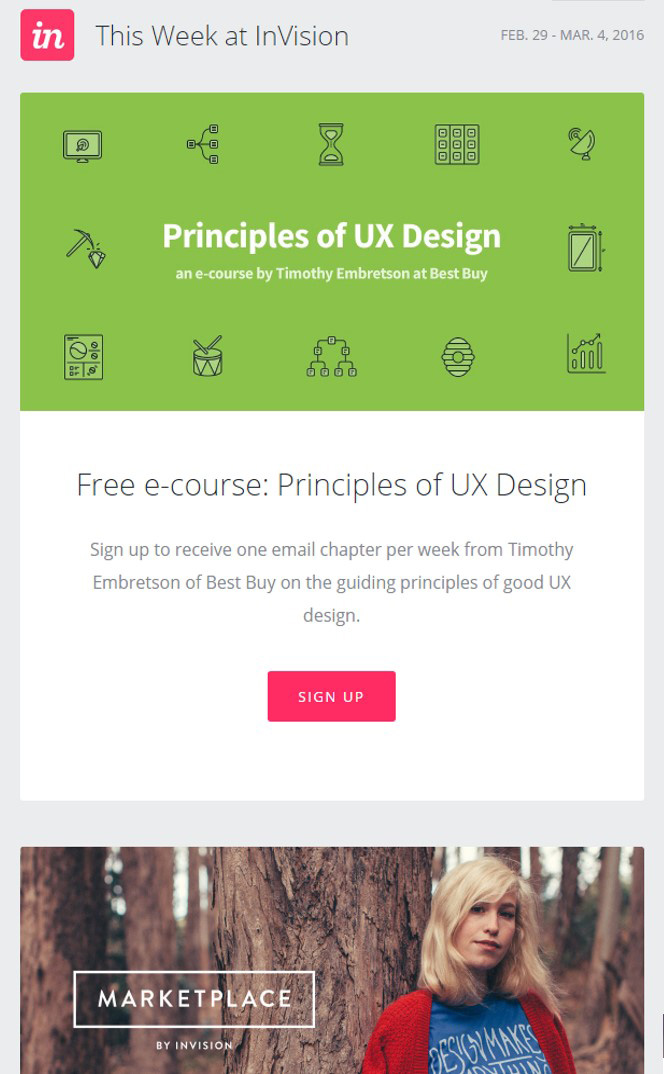 InVision email example graphic