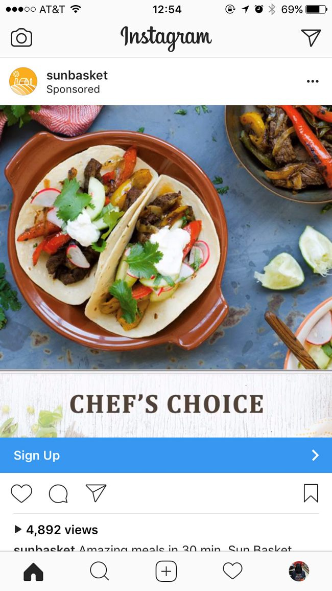 Instagram native ad