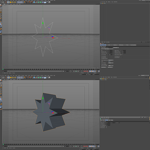 Extrude object example