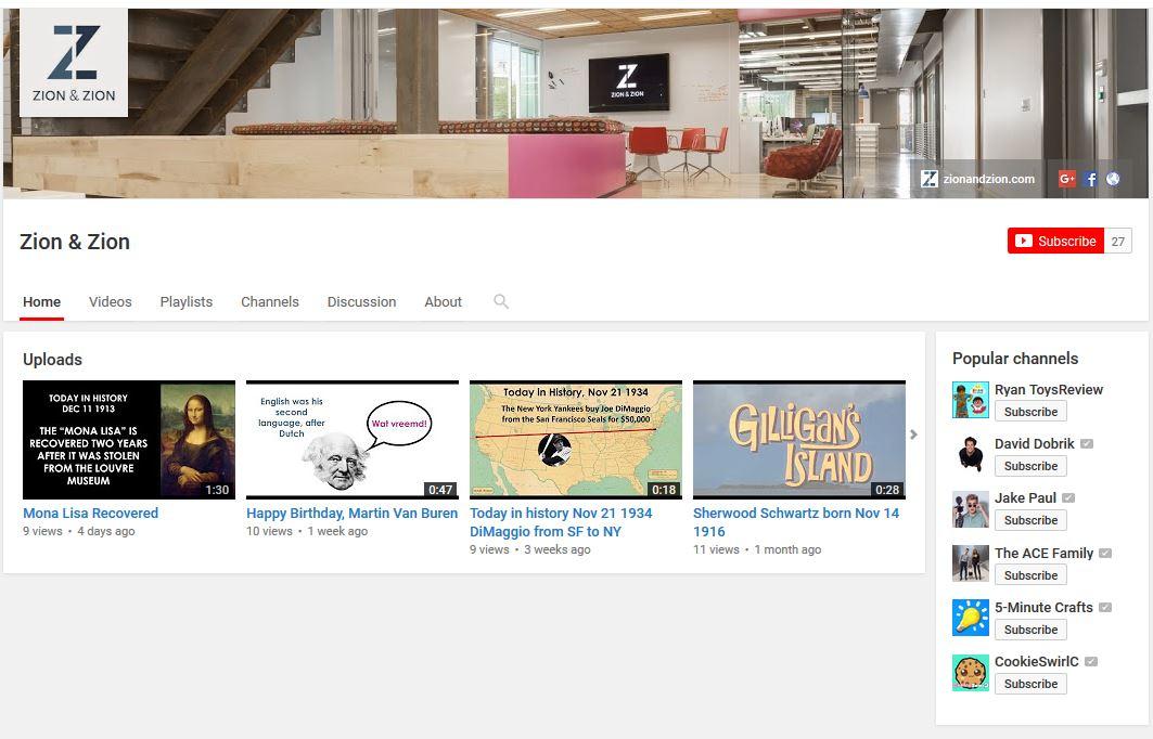 zz youtube channel