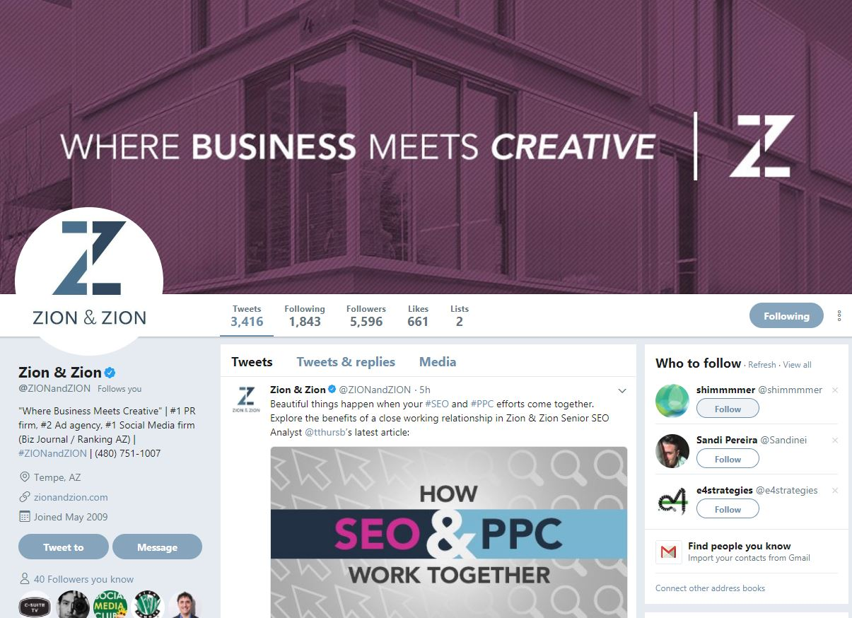 zz twitter profile
