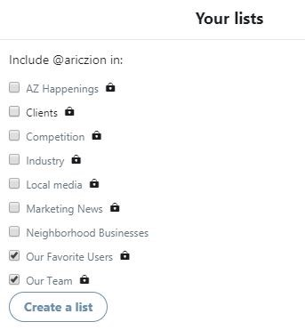 your twitter lists