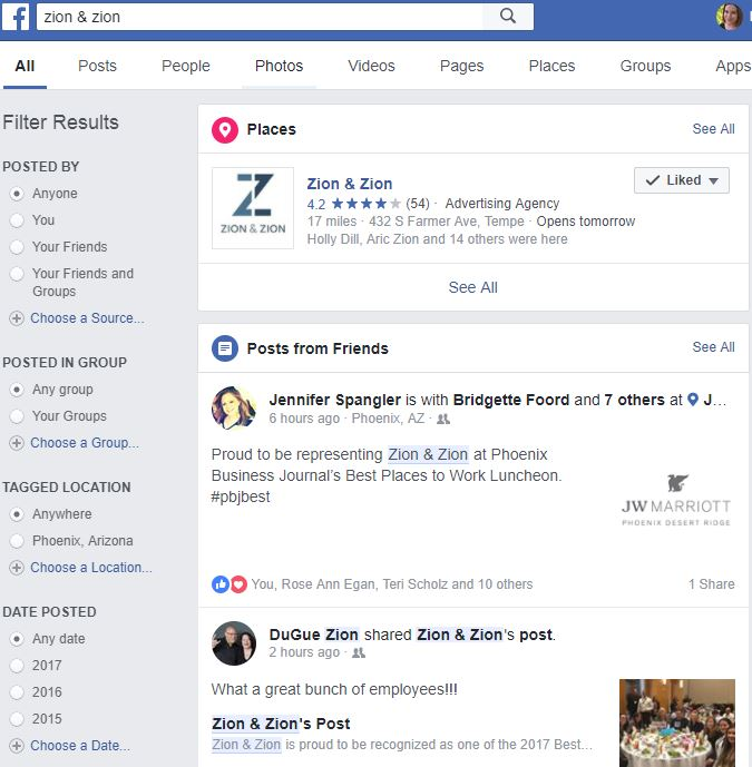 fb mentions