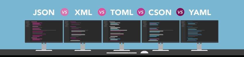 JSON VS YAML VS XML VS TOML VS CSON HEADER