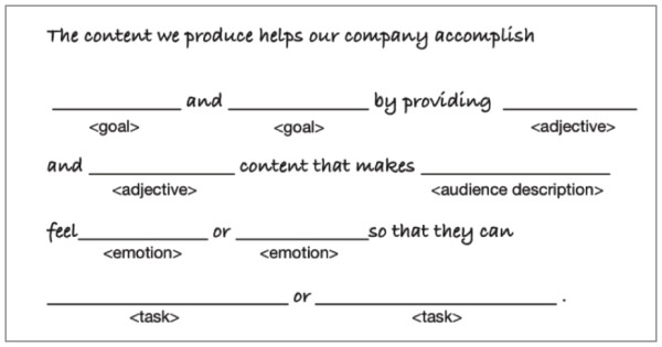 content strategy statement