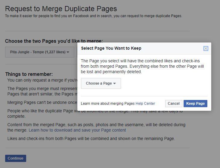 page merge process