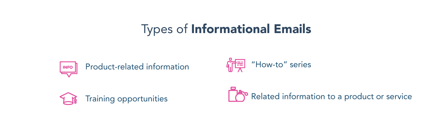 types of informational emails