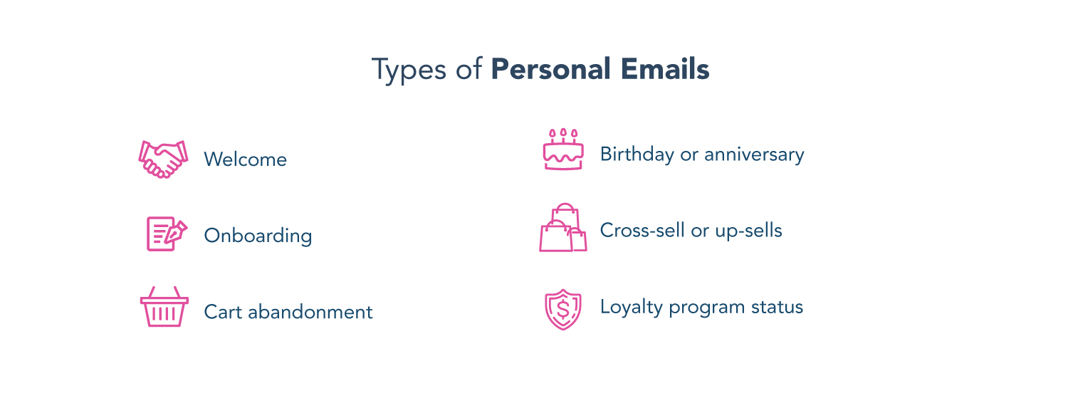 types of personal emails