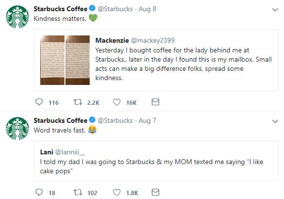 twitter engagement Starbucks