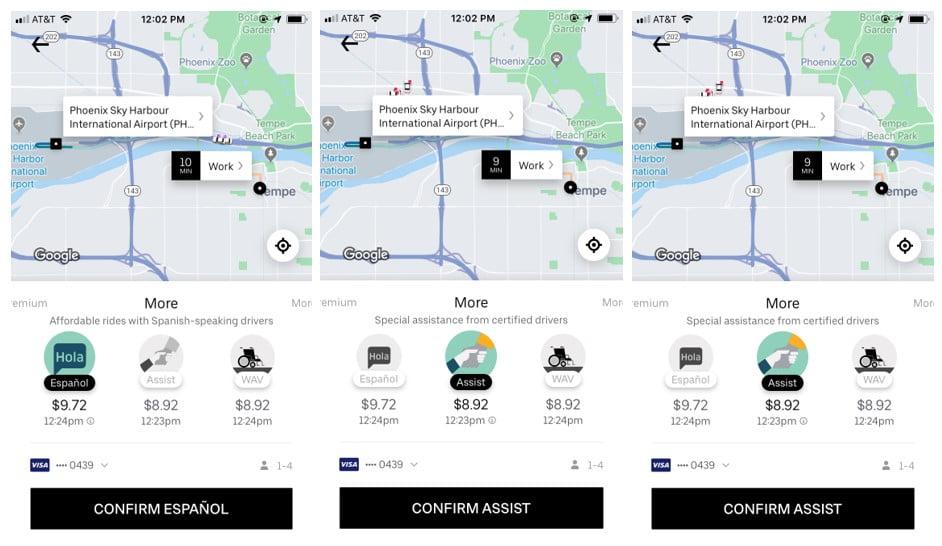 Uber Example: UX Writing