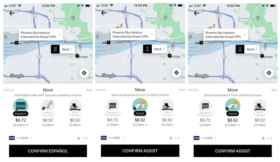 Uber Example: UX Writing
