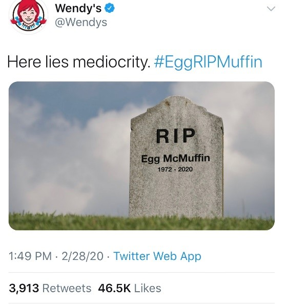 Wendy's Tweet Example | Authentic and Personal Social Media Marketing