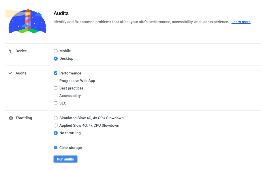 Audits Defaults | Use Chrome DevTools To Audit Your Site's Performance
