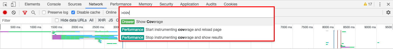 Network Command Menu | Use Chrome DevTools To Audit Your Site's Performance
