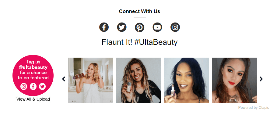 Ulta Beauty Social Media Example | Calling Your Content to Action